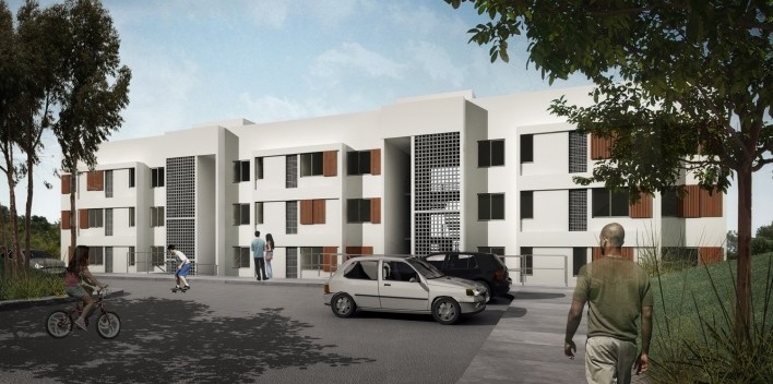 Projeto de edifício habitacional<br />Fonte Boldarini Arquitetos Associados