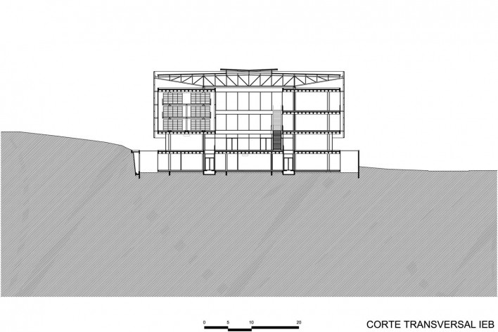Corte transversal IEB - Biblioteca Brasiliana USP
