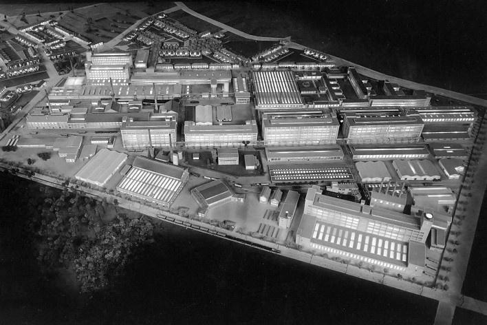 Maquete do Complexo Strijp - S, foto histórica, 1938<br />Foto divulgação