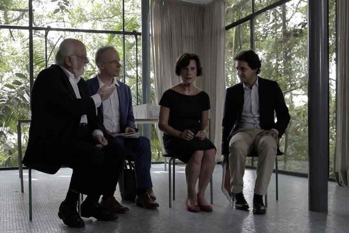 Danilo Santos de Miranda, Hans Ulrich Obrist, Anna Carboncini e Carlos Jereissati<br />Foto Helena Guerra