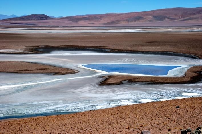 Laguna altiplânica<br />Foto José Tabacow