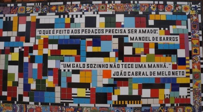Detalhe do Muro da Escola Estadual Dr. Genésio Cândido Pereira 2<br />Foto Bianca Siqueira Martins Domingos