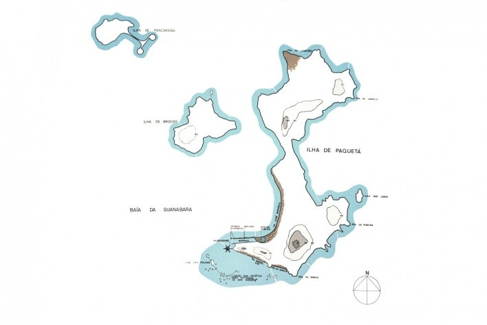 Hotel em Paquetá, implantação do projeto na ilha. Sérgio Bernardes [Revista AB nº12 1980]