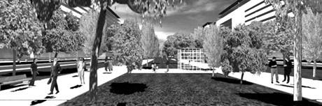 Grande Praça Linear<br />Imagem dos autores do projeto