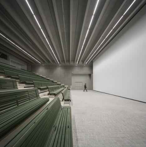 Museu Nacional dos Coches, auditório no anexo, Lisboa. Arquiteto Paulo Mendes da Rocha, MMBB arquitetos e Bak Gordon arquitetos<br />Foto Fernando Guerra  [FG+SG Architectural Photography]