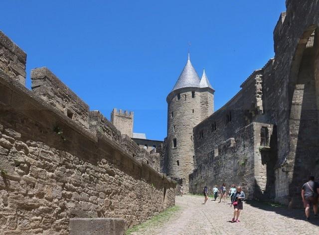 Muralha de Carcassonne, França<br />Foto Victor Hugo Mori