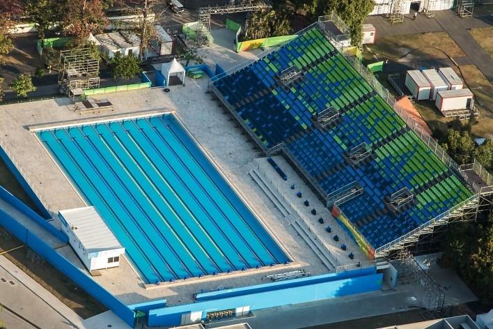 Centro Aquático de Deodoro, Parque Olímpico de Deodoro, Rio de Janeiro, RJ, Escritório Vigliecca & Associados<br />Foto Renato Sette Camara