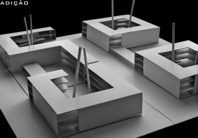 Operações de projeto 03. Concurso Habitação para Todos - CDHU. Edifícios de 3 pavimentos - 1º Lugar.<br />Autores do projeto  [equipe vencedora]