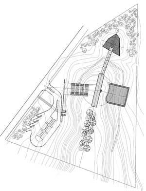 Implantação do Memorial<br />Imagem dos autores do projeto