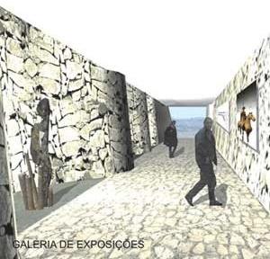 Vista interna da Galeria de Exposições<br />Imagem dos autores do projeto