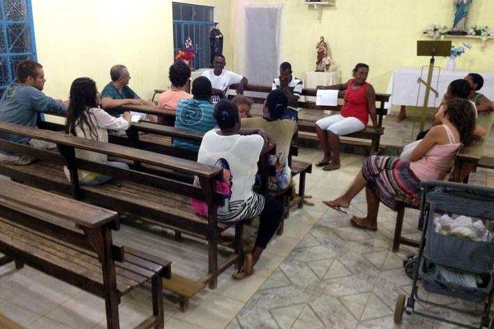 Reunião comunitária<br />Foto Fabio Lima