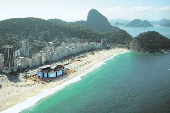 Copacabana Stadium - Beach Volleyball<br />Rio 2016/BCMF Arquitetos
