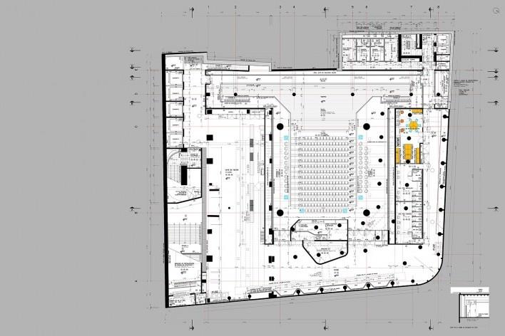 Sesc 24 de Maio, 1º subsolo, teatro, Paulo Mendes da Rocha + MMBB Arquitetos, São Paulo<br />Imagem divulgação