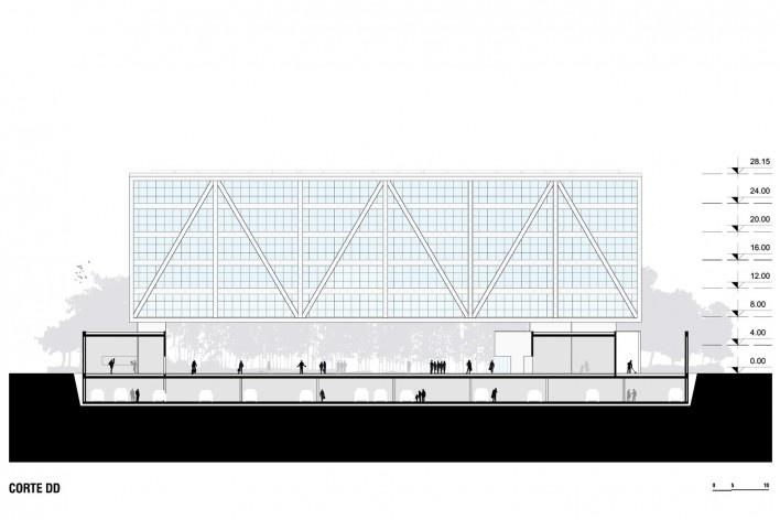 Campus Igara UFCSPA, corte. OSPA Arquitetura e Urbanismo<br />Imagem divulgação