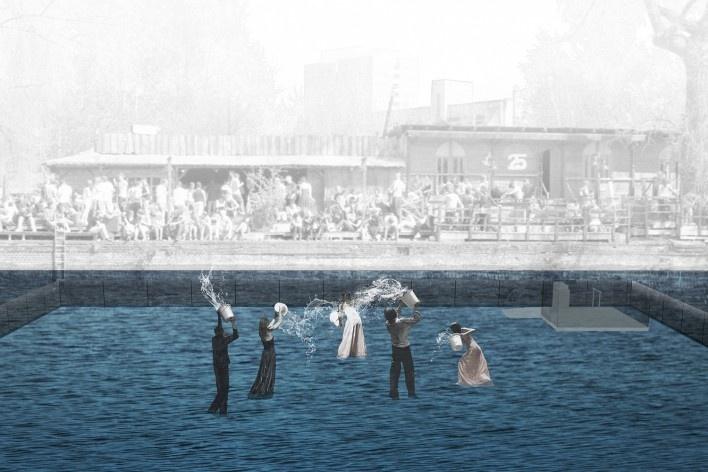 Spree river theatre, theatre simulation. Carlos M. Teixeira