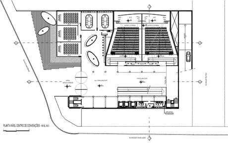 Planta nível do Centro de Convenções<br />Imagem dos autores do projeto