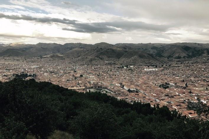 Vista de Cusco desde os altos de Sacsayhuaman<br />Foto José Lira