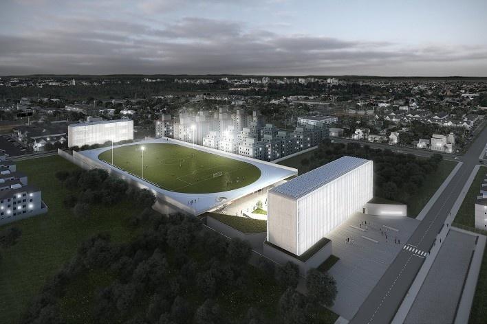 Campus Igara UFCSPA, perspectiva. OSPA Arquitetura e Urbanismo<br />Imagem divulgação