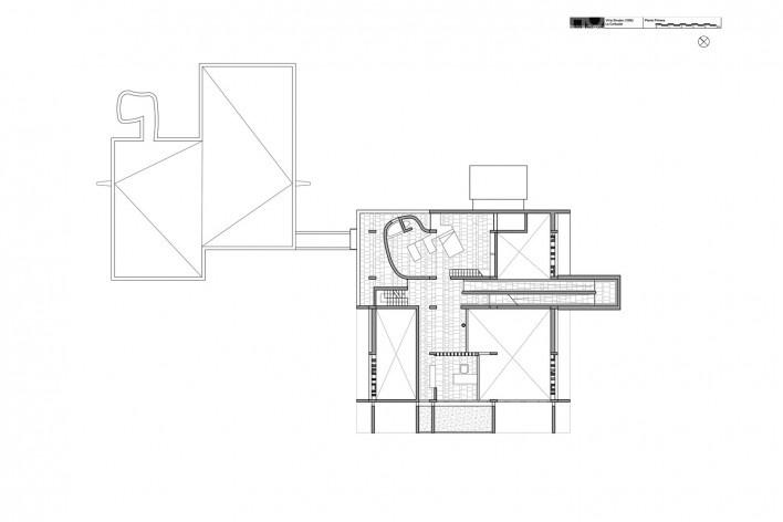 Casa Shodhan, planta primeiro pavimento, Ahmedabad, Gujarat, Índia, 1951-56. Arquiteto Le Corbusier<br />Reprodução/reproducción  [website historiaenobres.net]