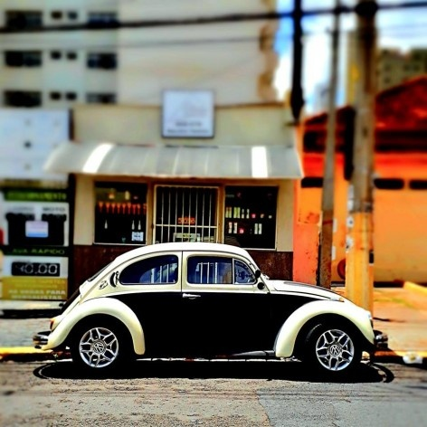 "Fusca bicolor, série fotográfica ""Os fuscas ofuscam""<br />Foto Fernando Mascaro"