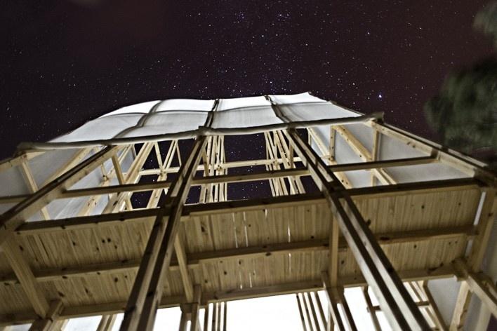 Observatório do Campo e das Estrelas, Ceibas, Entre Rios, Argentina, arquitetos Cássio Sauer e Elisa T Martins<br />Foto Bárbara Goris