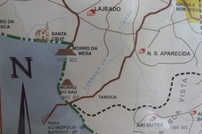 Localização do Morro da Mesa, divisa entre os Estados de São Paulo e Minas Gerais<br />Foto Michel Gorski