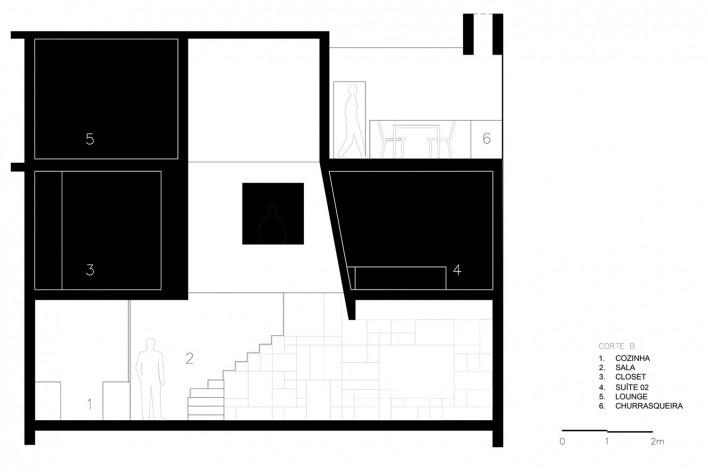 Apartamento Vazio, corte A, São Paulo, 2015, arquitetos Marina Acayaba e Juan Pablo Rosenberg<br />Imagem divulgação