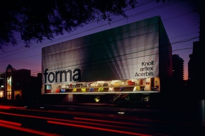Loja Forma, São Paulo SP Brasil, 1987. Arquiteto Paulo Mendes da Rocha<br />Foto Nelson Kon