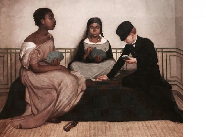 Francisco Laso, Las tres razas ou La Igualdad ante la ley, 1859<br />Foto José Lira