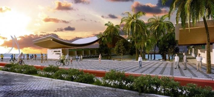 Mercado dos Peixes reforça o uso tradicional deste espaço. Formando uma pequena praça que abre-se para o mar em um deck de madeira elevado. Este será uma praça de alimentação para degustação de frutos do mar