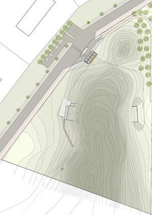 Implantação da Área da Prefeitura<br />Imagem dos autores do projeto