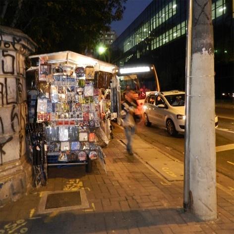 Oficina de desenho urbano MCB, interferência urbana: quiosque irregular, São Paulo, 2011