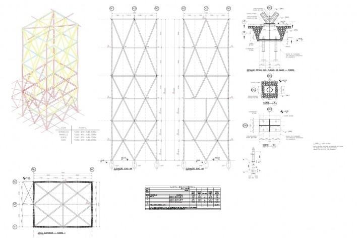 Estrutura torre 1<br />Metro Arquitetos Associados