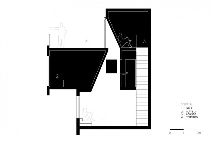 Apartamento Vazio, corte B, São Paulo, 2015, arquitetos Marina Acayaba e Juan Pablo Rosenberg<br />Imagem divulgação