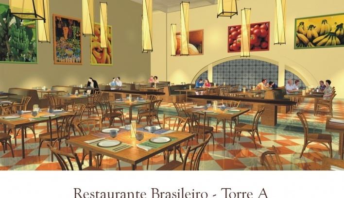 Restaurante Brasileiro. Torre A<br />Imagem do autor do projeto