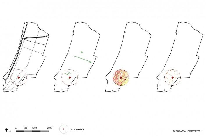 Diagrama do quarto distrito<br />Imagem divulgação  [Acervo Goma Oficina]