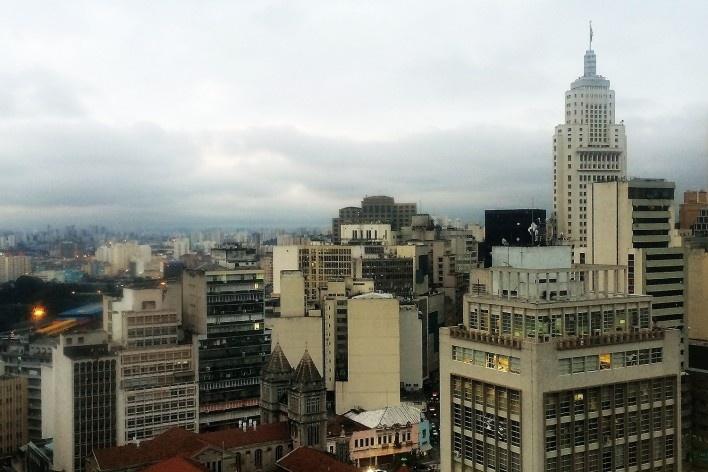 Edifício Altino Arantes, sede do Banco do Estado de São Paulo, atual Farol Santander<br />Foto Abilio Guerra