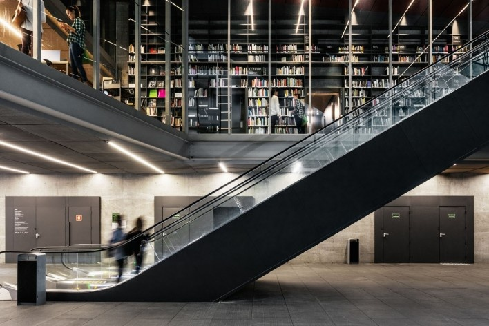 Sede do Instituto Moreira Salles, Arquitetos Vinicius Andrade e Marcelo Morettin, São Paulo<br />Foto Nelson Kon