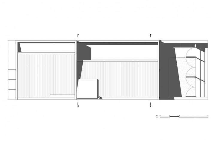 Casa 711H, planta cobertura, Brasília, 2017. Arquitetos Daniel Mangabeira, Henrique Coutinho e Matheus Seco<br />Desenho divulgação