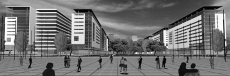 Vista da Grande Praça  <br />Imagem dos autores do projeto