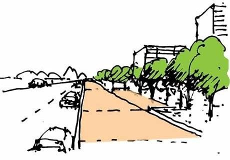 Croqui da Área de Crescimento Urbano<br />Imagem dos autores do projeto