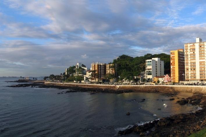 Vista do Farol da Barra em Salvador<br />Foto Abilio Guerra