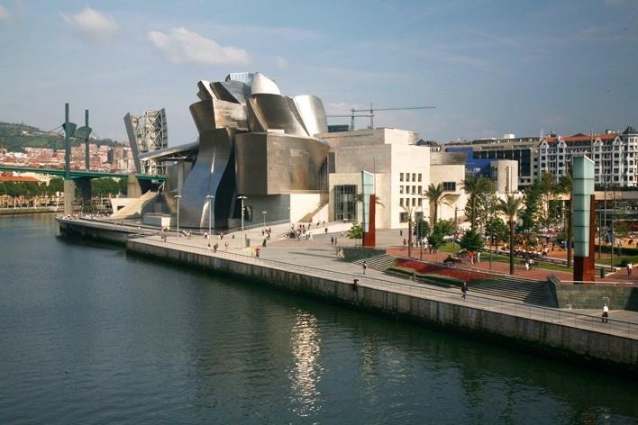Museu Guggenheim, Bilbao. Arquiteto Frank Ghery<br />Foto Nelson Kon