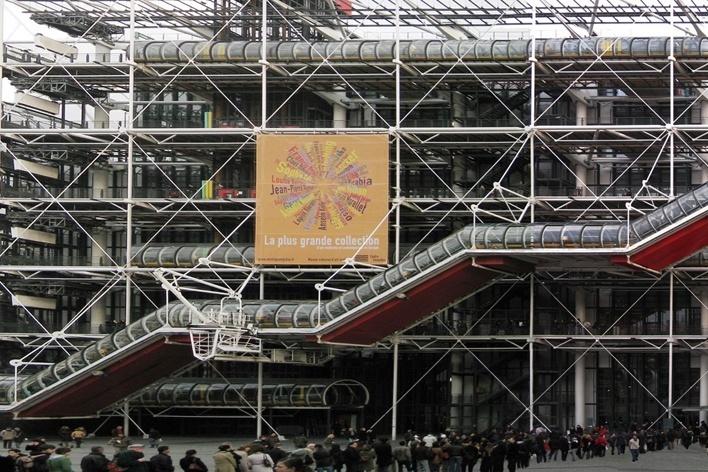 Centro George Pompidou – Beaubourg, Paris. Arquitetos Renzo Piano e Richard Rogers<br />Foto Victor Hugo Mori