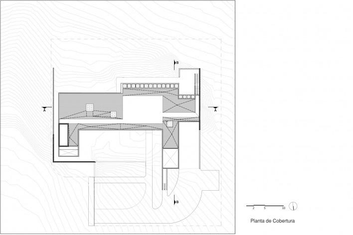Casa Torreão, planta térreo, Brasília DF, arquitetos Daniel Mangabeira, Henrique Coutinho e Matheus Seco<br />Imagem divulgação