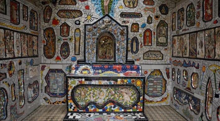 Altar da Capela de Mosaico I<br />Foto Bianca Siqueira Martins Domingos