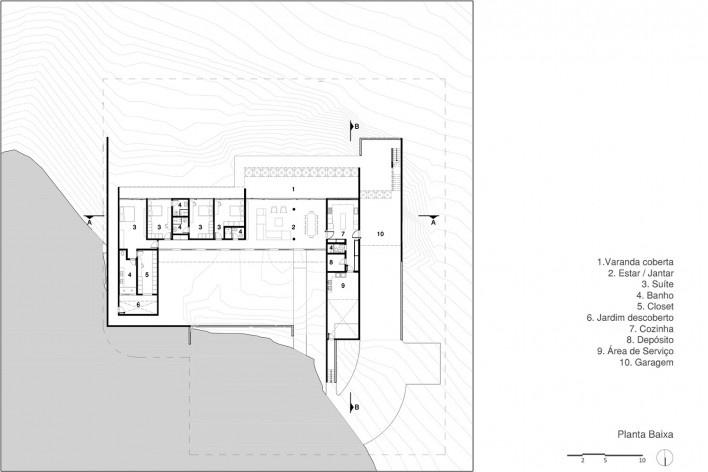 Casa Torreão, implantação, Brasília DF, arquitetos Daniel Mangabeira, Henrique Coutinho e Matheus Seco<br />Imagem divulgação