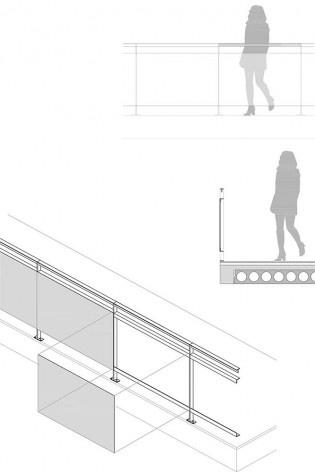 Ágora Tech Park, detalhe, Joinville SC Brasil, 2019. Arquitetos Marcus Vinicius Damon, Guilherme Bravin e Andressa Diniz / Estúdio Módulo<br />Imagem divulgação  [Estúdio Módulo]