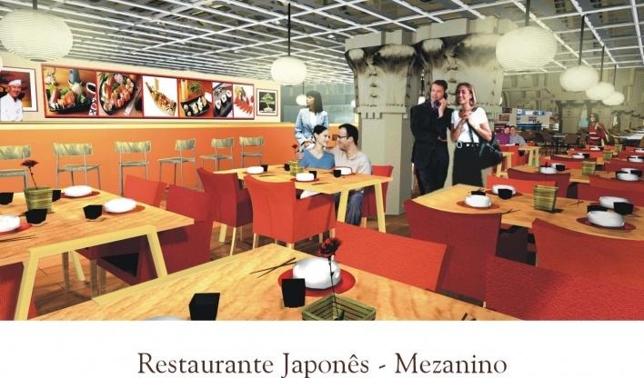 Restaurante Japones. Mezanino<br />Imagem do autor do projeto