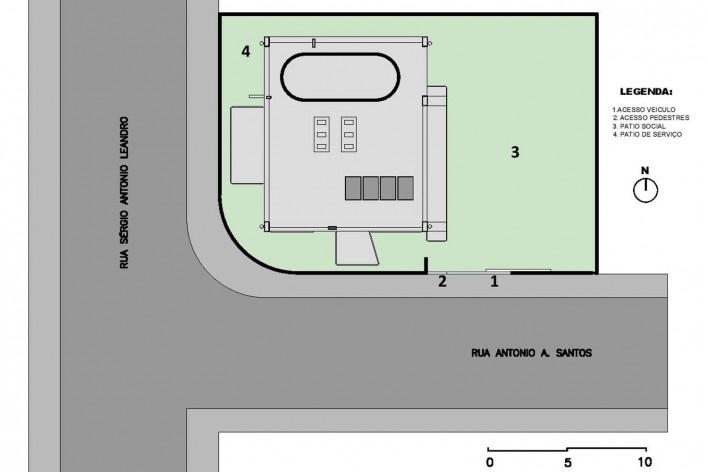Casa D, implantação, Praia Alegre, Penha SC Brasil, 2014. Arquiteto Pablo José Vailatti / PJV Arquitetura<br />Imagem divulgação  [PJV Arquitetura]